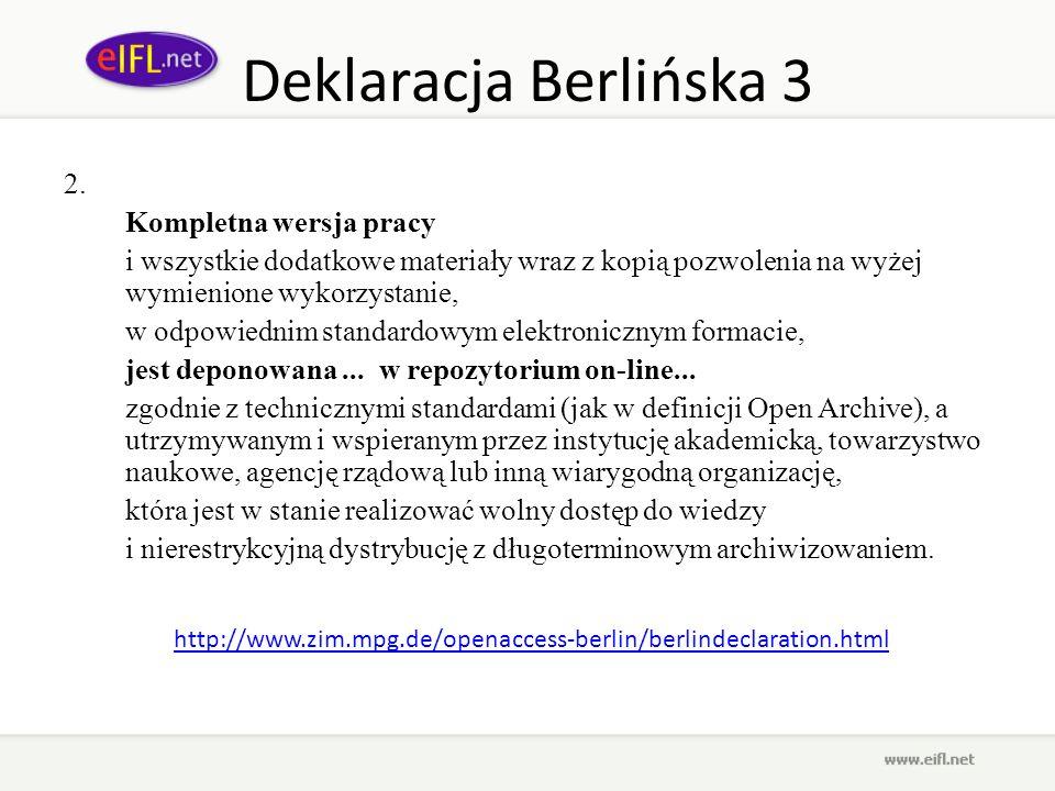 Deklaracja Berlińska 3 2. Kompletna wersja pracy