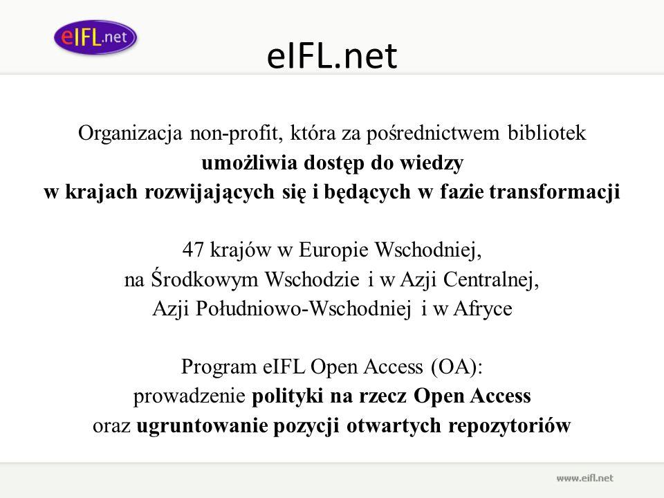 eIFL.net Organizacja non-profit, która za pośrednictwem bibliotek