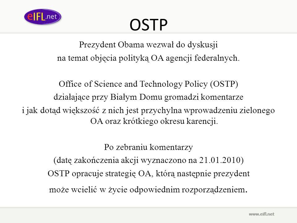 OSTP Prezydent Obama wezwał do dyskusji