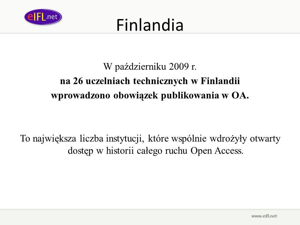 na 26 uczelniach technicznych w Finlandii