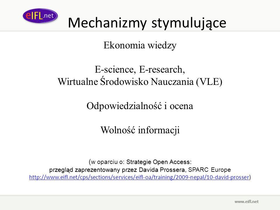Mechanizmy stymulujące