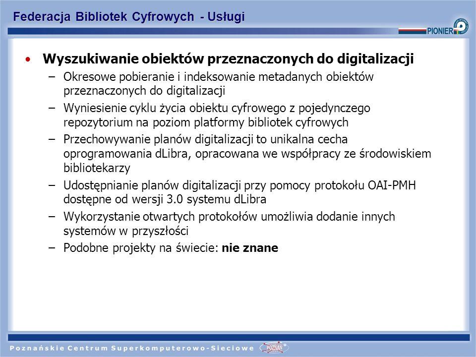 Federacja Bibliotek Cyfrowych - Usługi