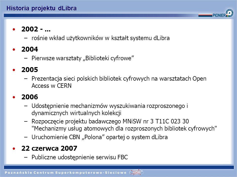 Historia projektu dLibra
