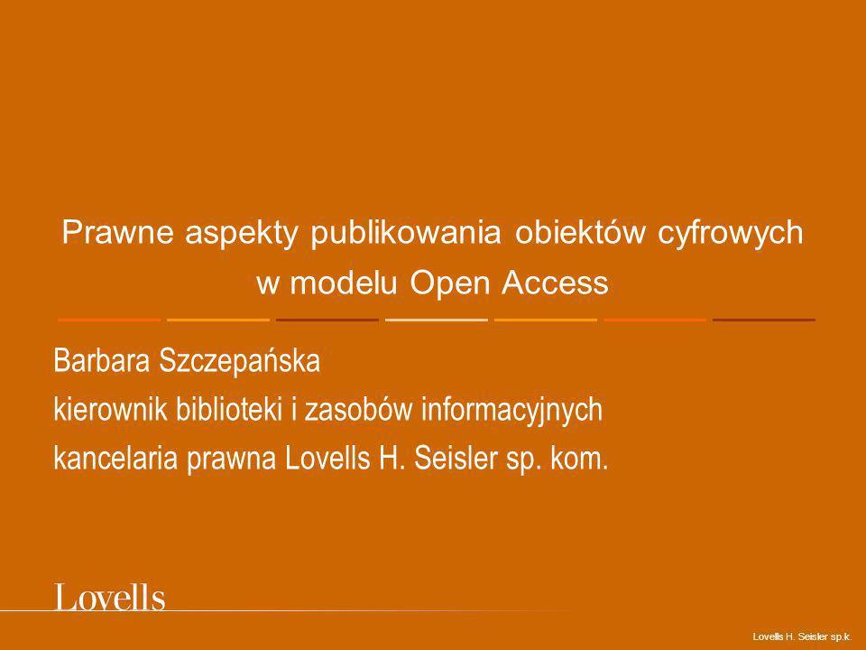 Prawne aspekty publikowania obiektów cyfrowych w modelu Open Access