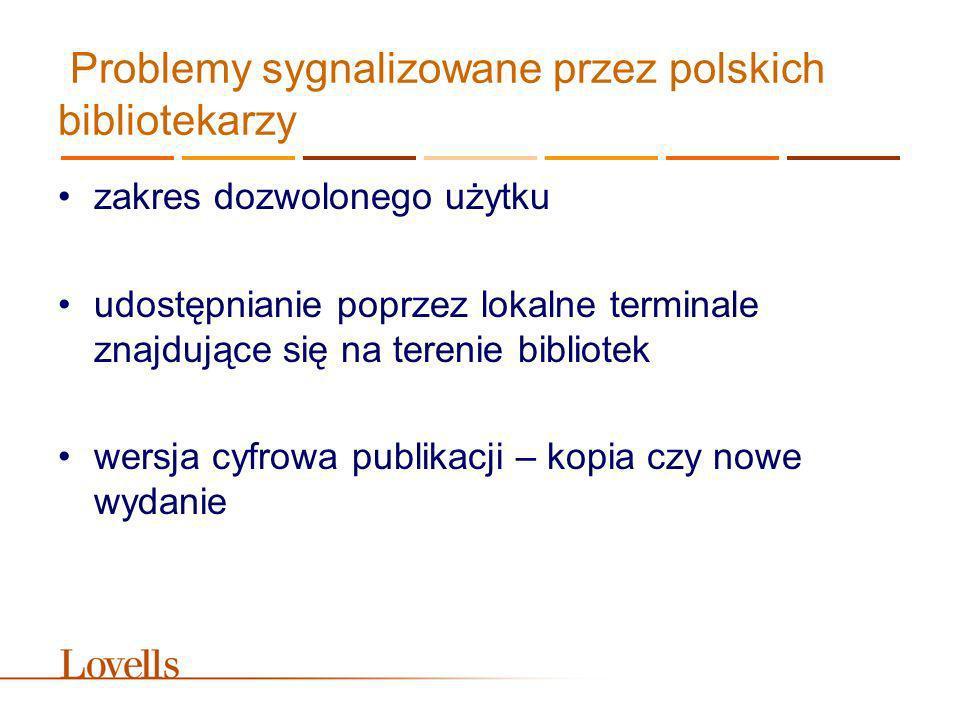 Problemy sygnalizowane przez polskich bibliotekarzy