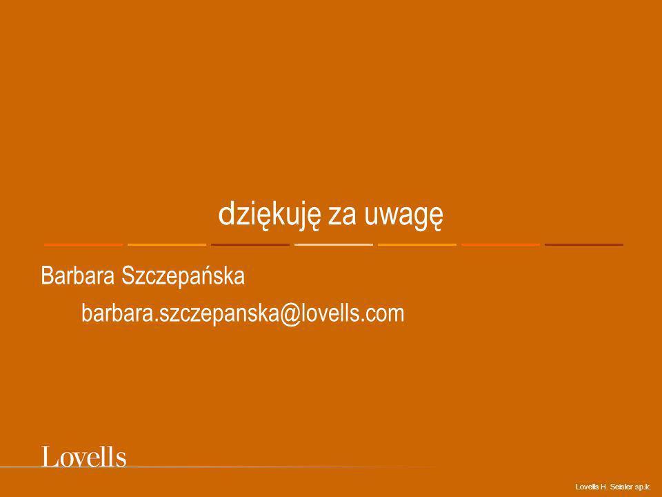 Barbara Szczepańska barbara.szczepanska@lovells.com