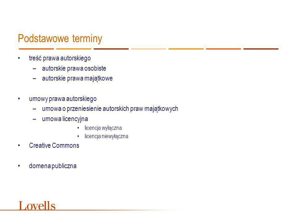 Podstawowe terminy treść prawa autorskiego autorskie prawa osobiste