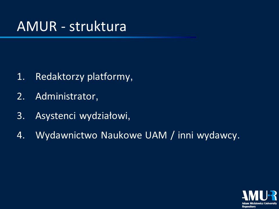 AMUR - struktura Redaktorzy platformy, Administrator,