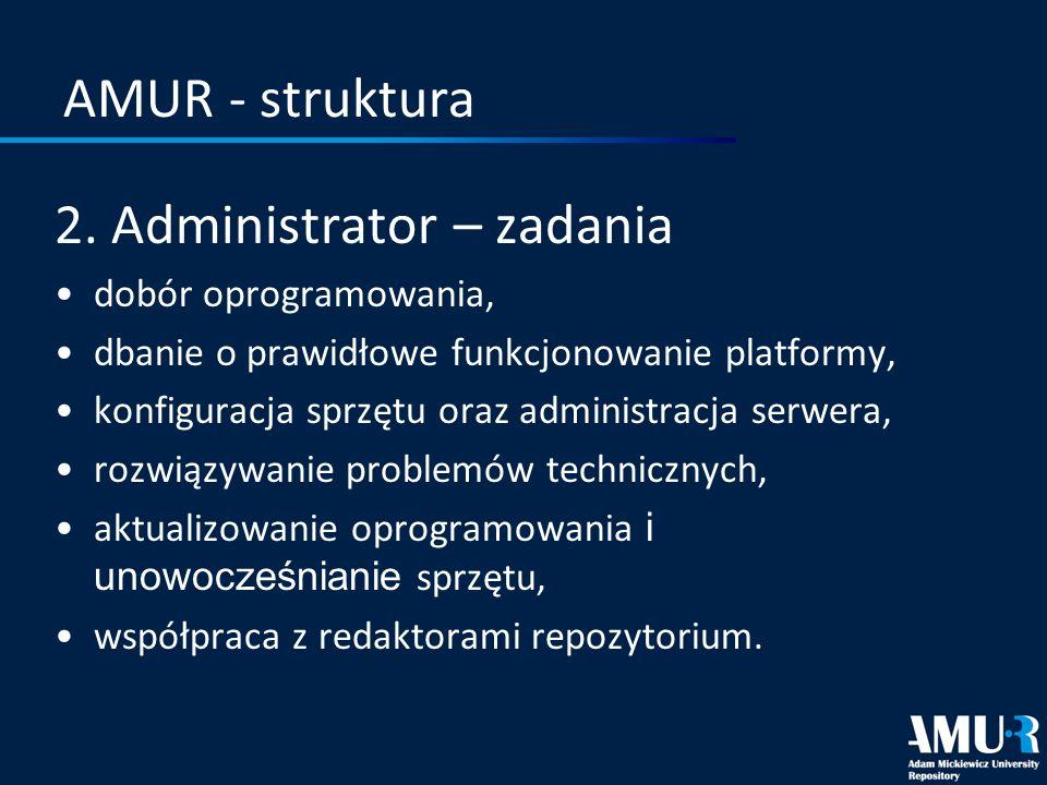 2. Administrator – zadania