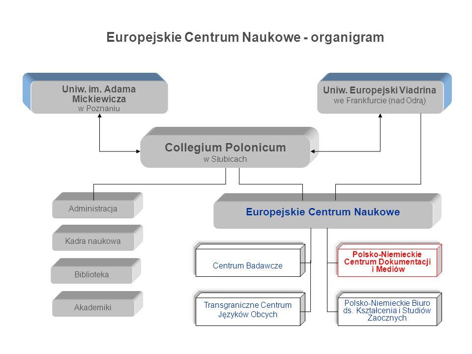 Europejskie Centrum Naukowe - organigram