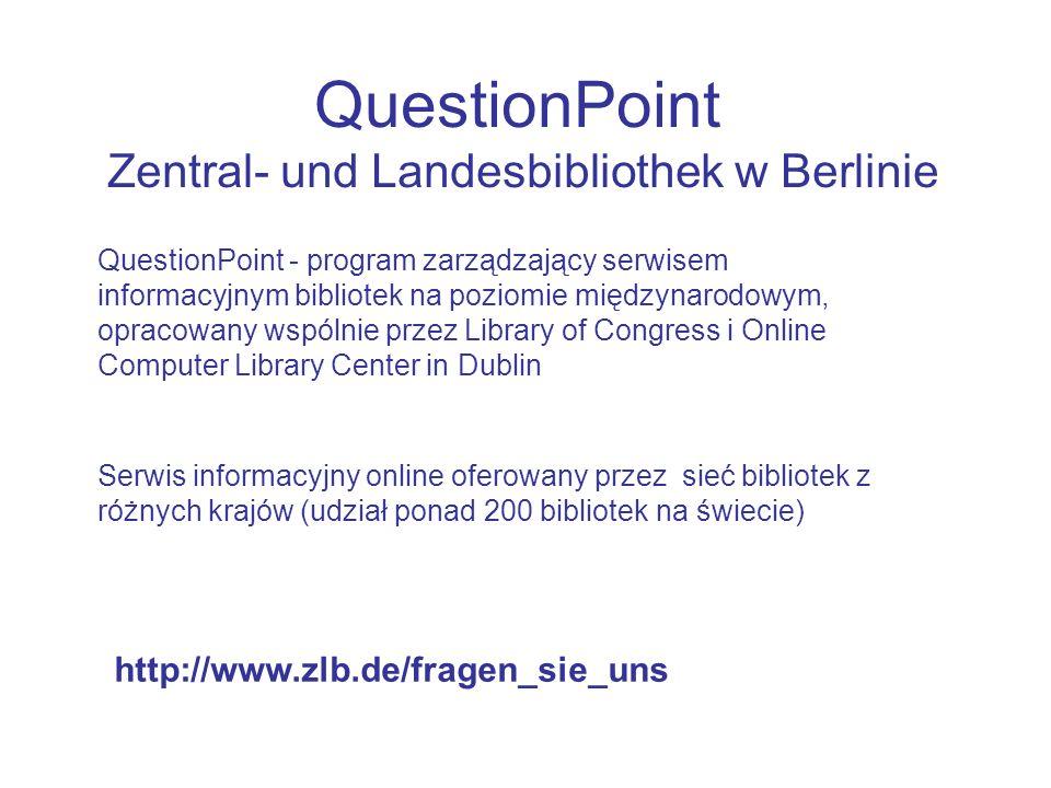 QuestionPoint Zentral- und Landesbibliothek w Berlinie