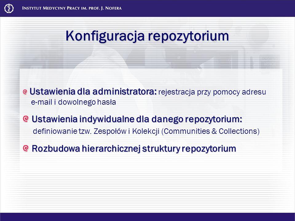 Konfiguracja repozytorium