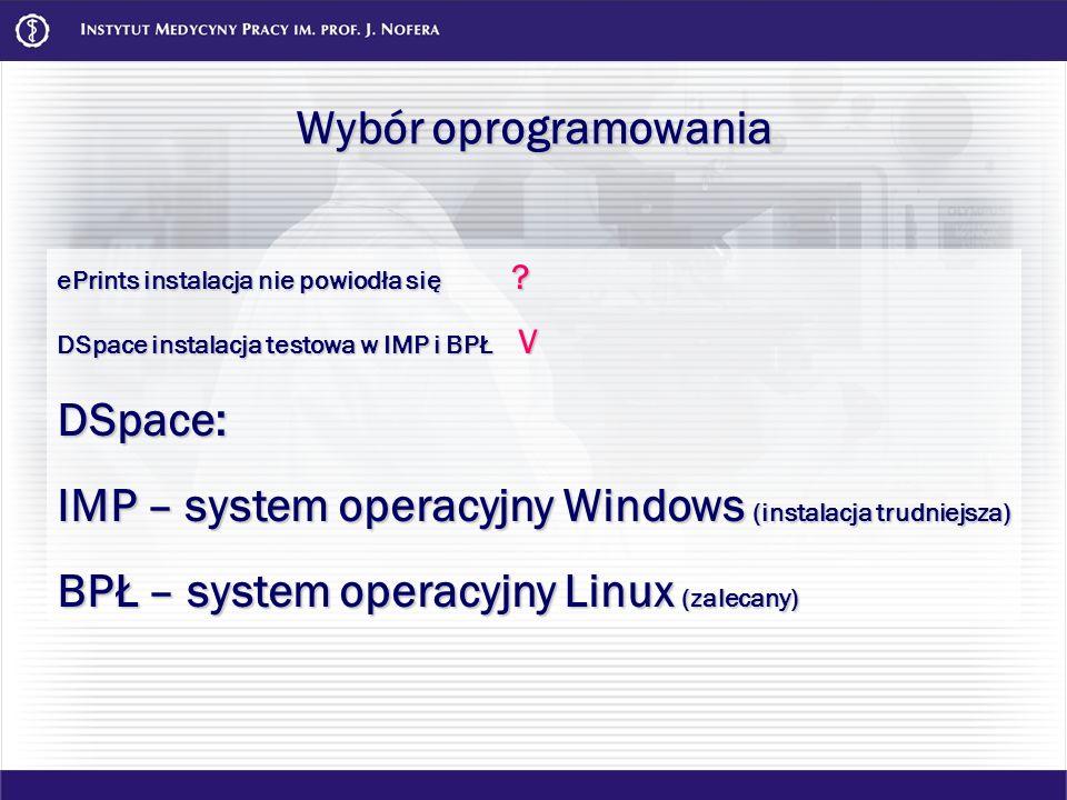 IMP – system operacyjny Windows (instalacja trudniejsza)