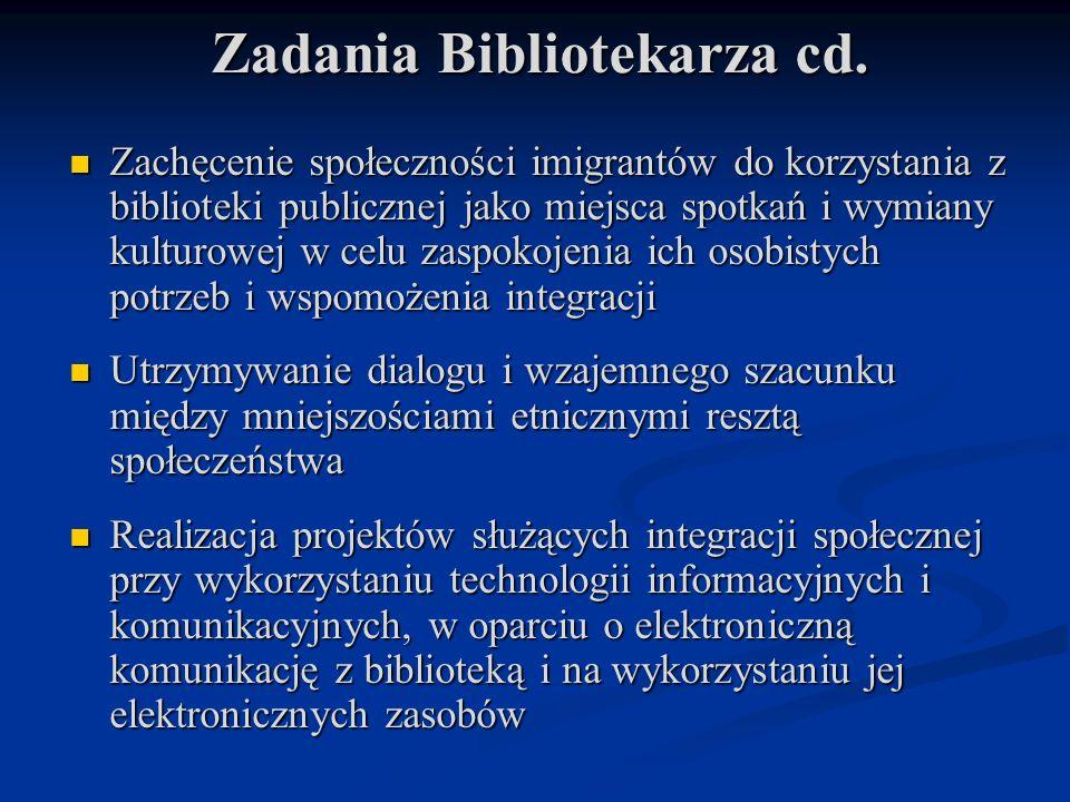 Zadania Bibliotekarza cd.