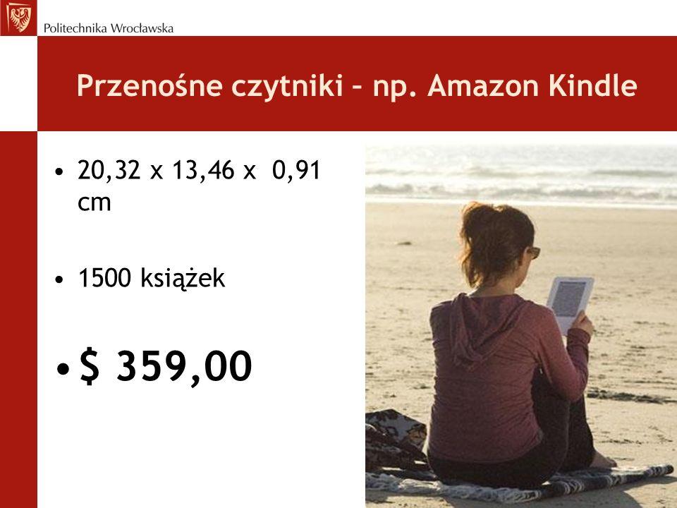 Przenośne czytniki – np. Amazon Kindle
