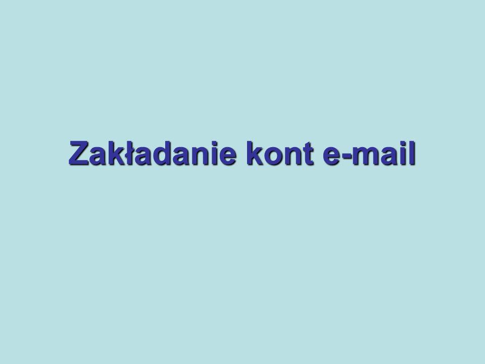 Zakładanie kont e-mail