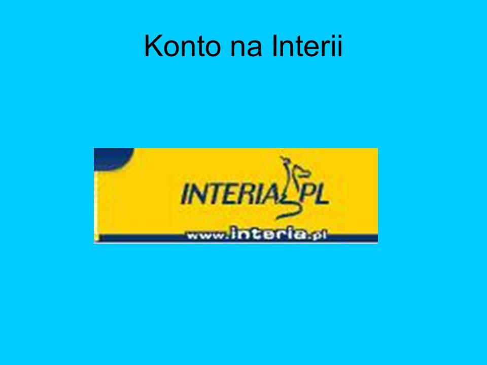 Konto na Interii