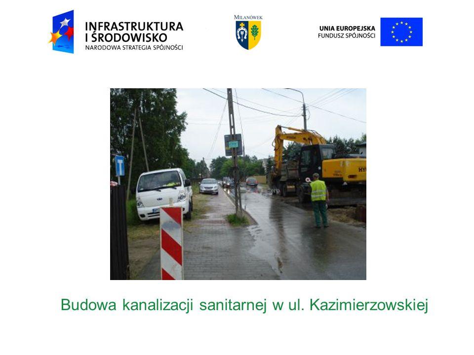 Budowa kanalizacji sanitarnej w ul. Kazimierzowskiej