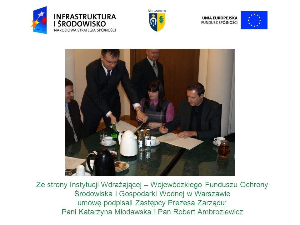 umowę podpisali Zastępcy Prezesa Zarządu: