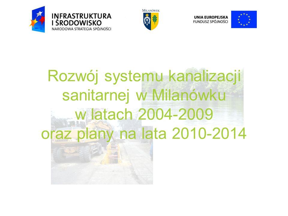 Rozwój systemu kanalizacji sanitarnej w Milanówku w latach 2004-2009 oraz plany na lata 2010-2014