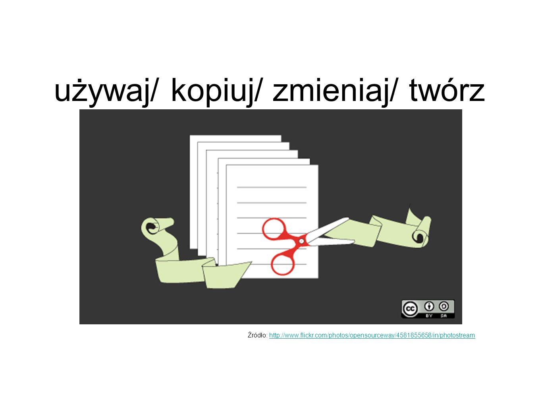 używaj/ kopiuj/ zmieniaj/ twórz