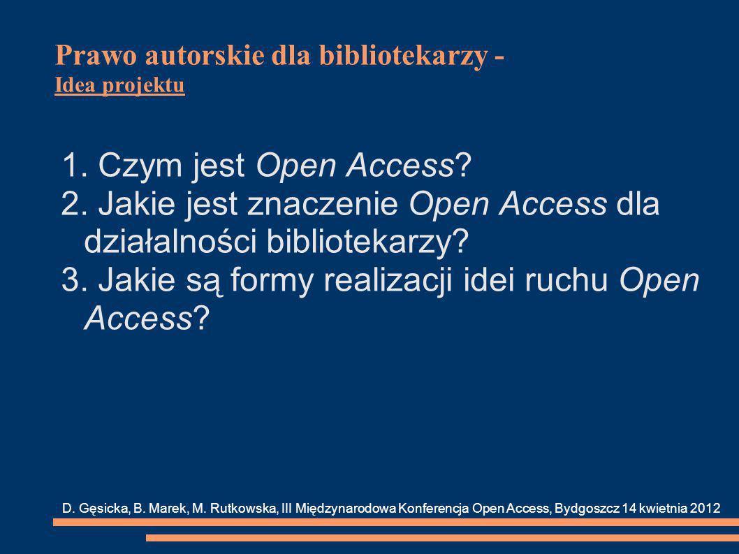 Prawo autorskie dla bibliotekarzy - Idea projektu