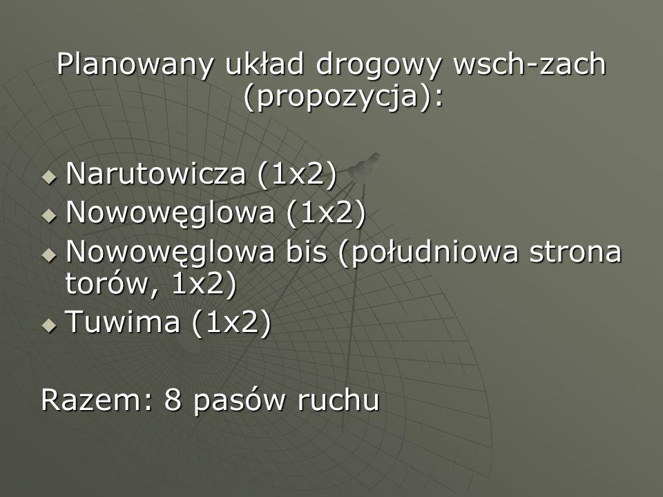 Planowany układ drogowy wsch-zach (propozycja):
