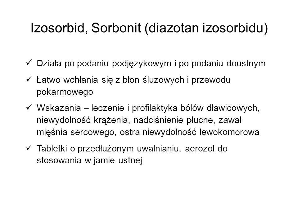 Izosorbid, Sorbonit (diazotan izosorbidu)