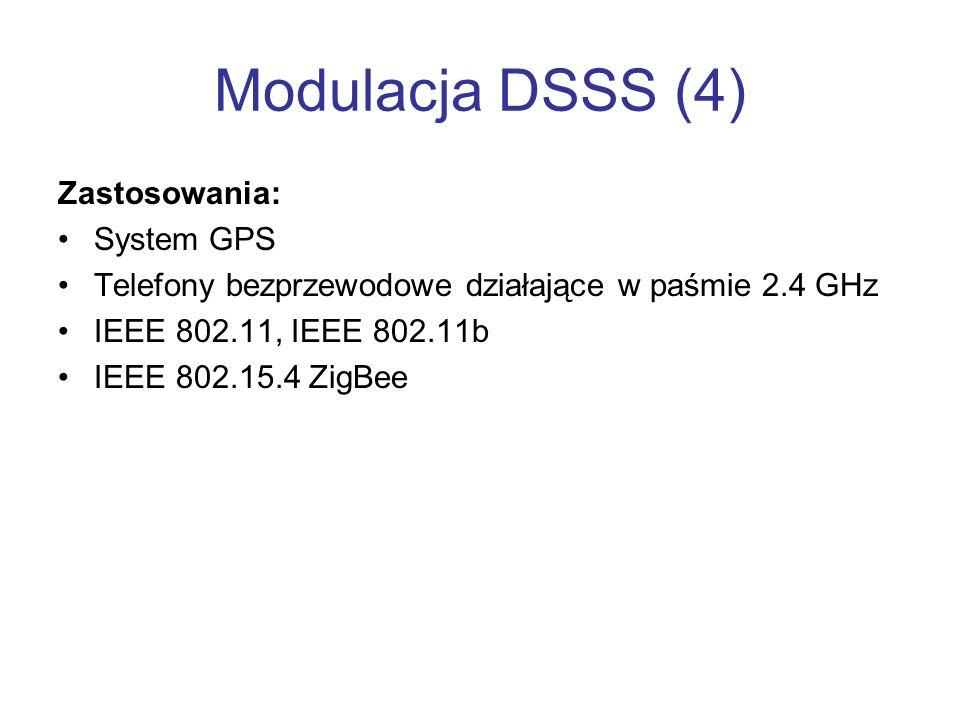 Modulacja DSSS (4) Zastosowania: System GPS