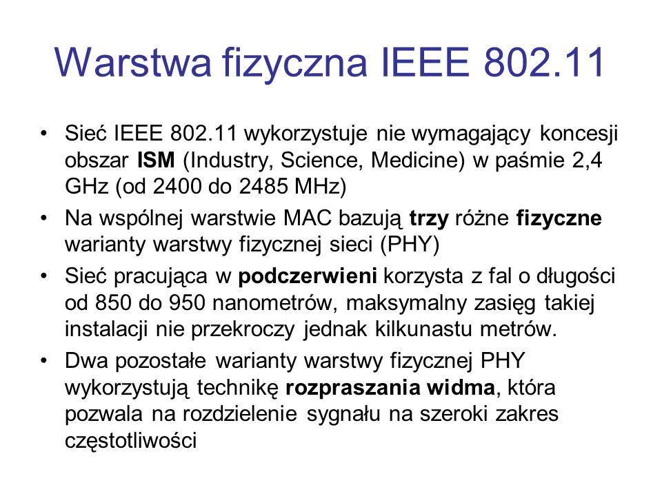 Warstwa fizyczna IEEE 802.11