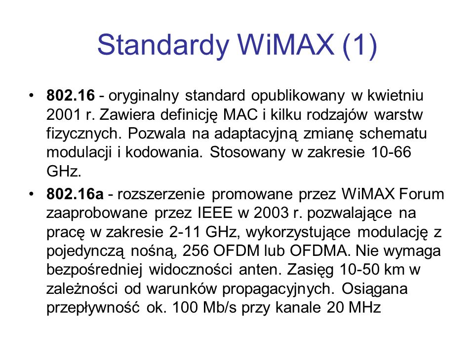 Standardy WiMAX (1)