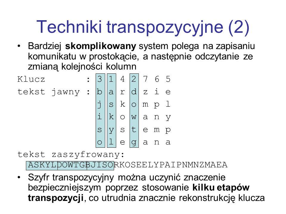 Techniki transpozycyjne (2)