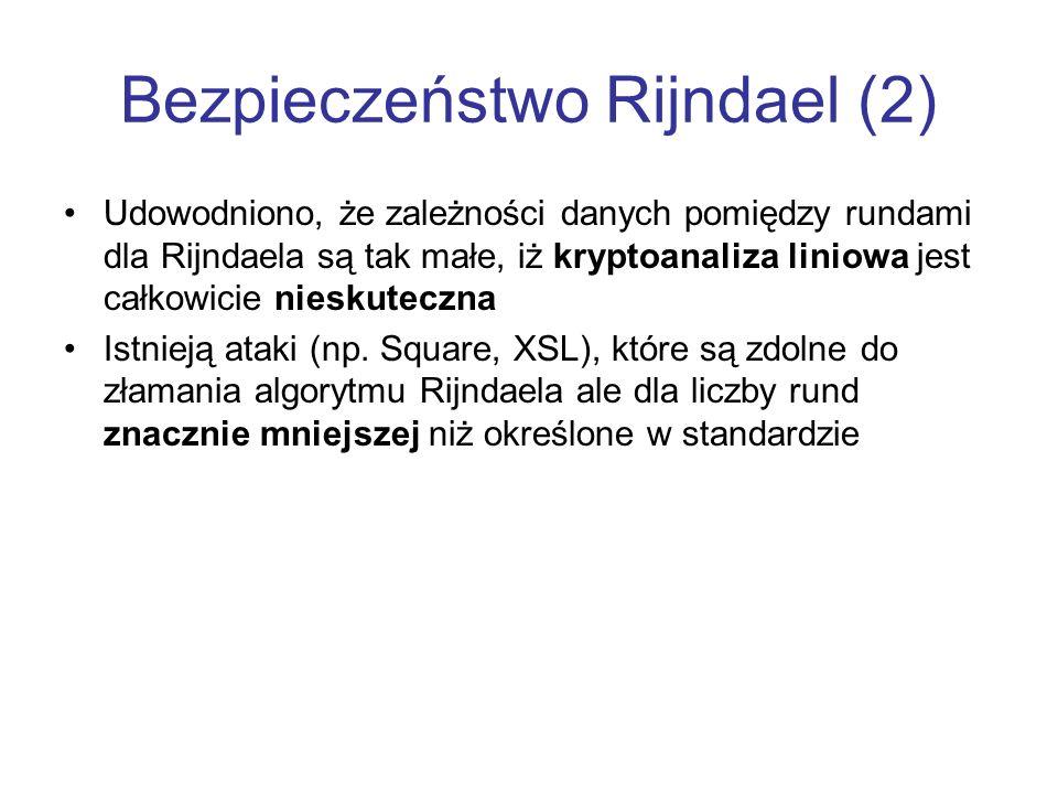 Bezpieczeństwo Rijndael (2)