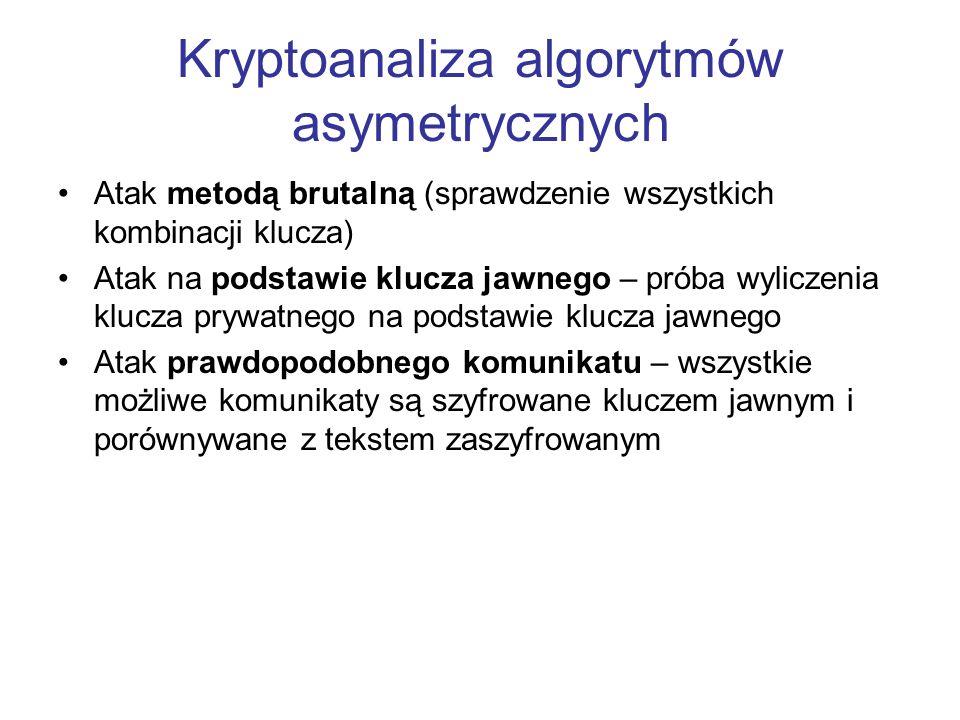 Kryptoanaliza algorytmów asymetrycznych