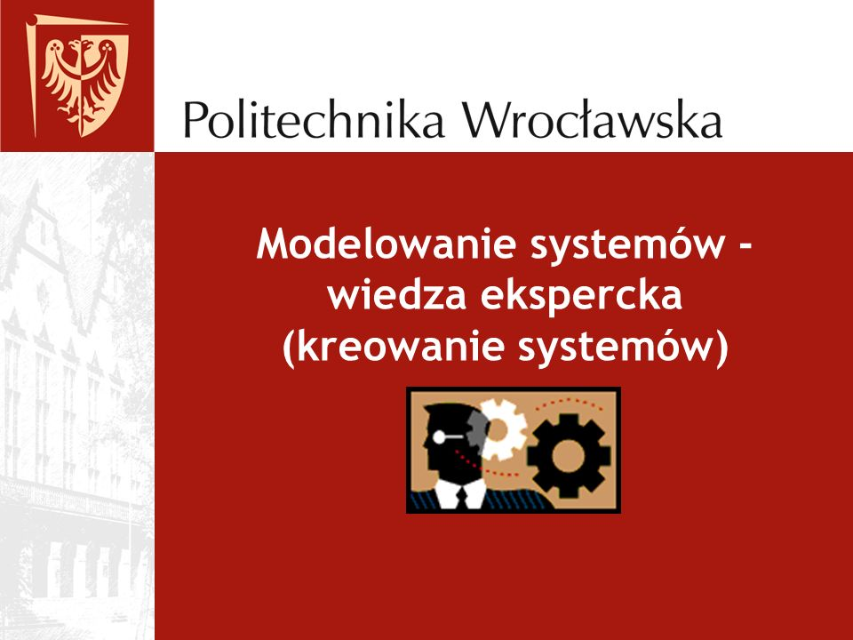 Modelowanie systemów - wiedza ekspercka (kreowanie systemów)