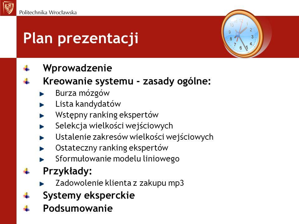 Plan prezentacji Wprowadzenie Kreowanie systemu - zasady ogólne: