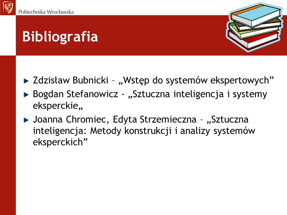 """Bibliografia Zdzisław Bubnicki – """"Wstęp do systemów ekspertowych"""