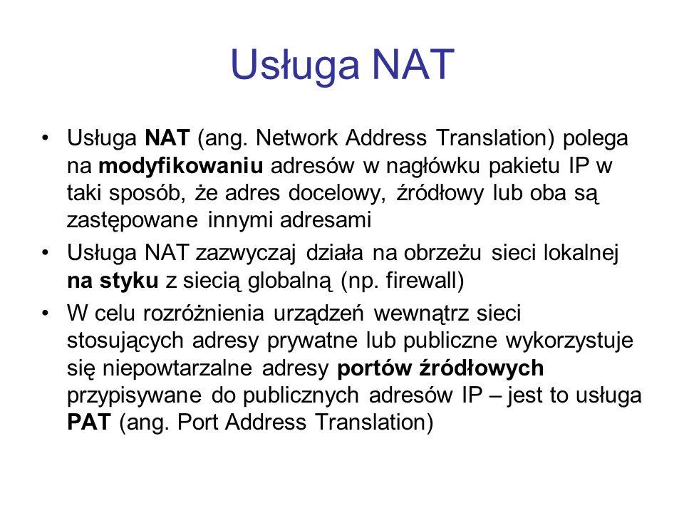 Usługa NAT