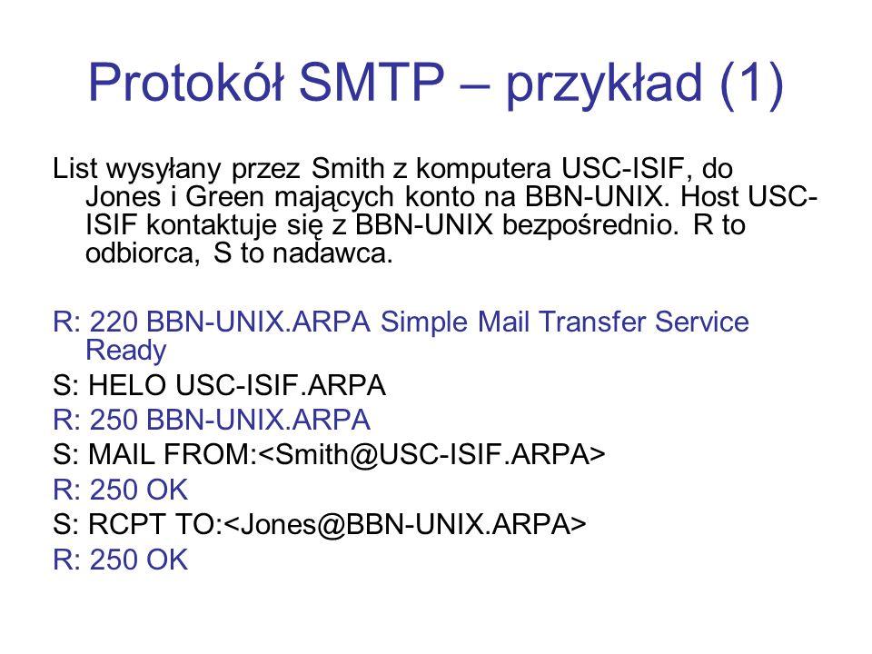Protokół SMTP – przykład (1)