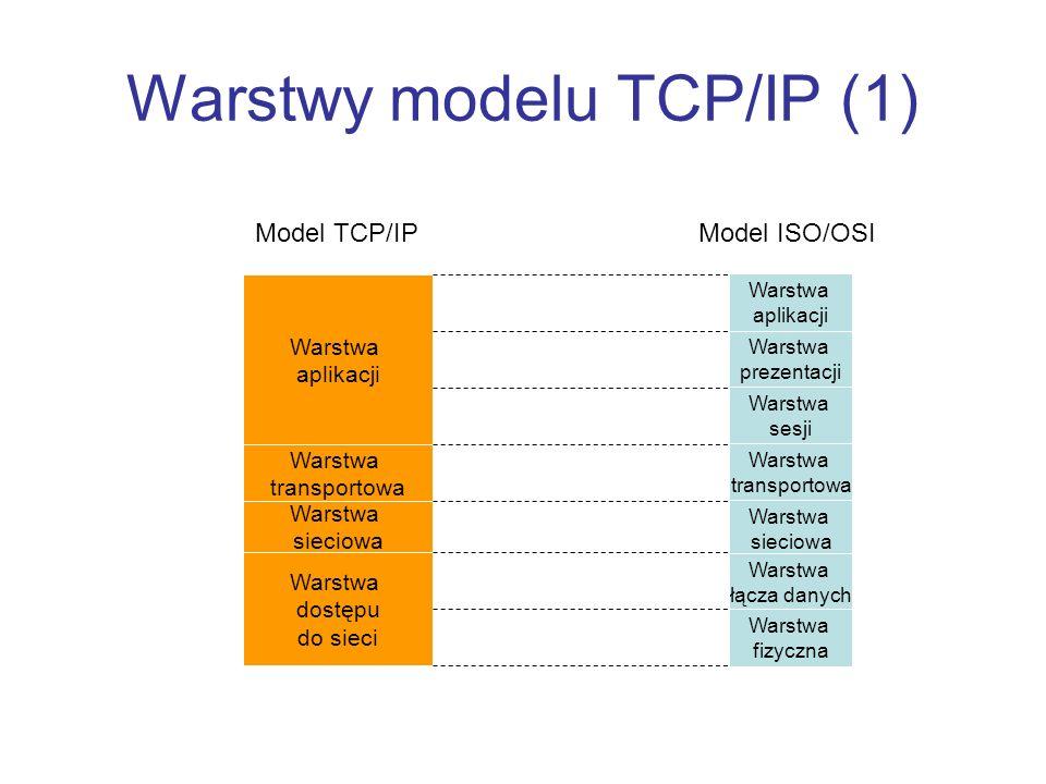 Warstwy modelu TCP/IP (1)