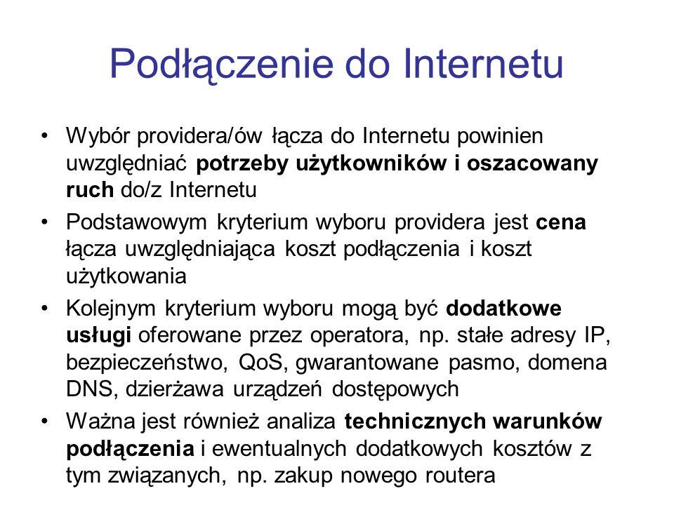 Podłączenie do Internetu