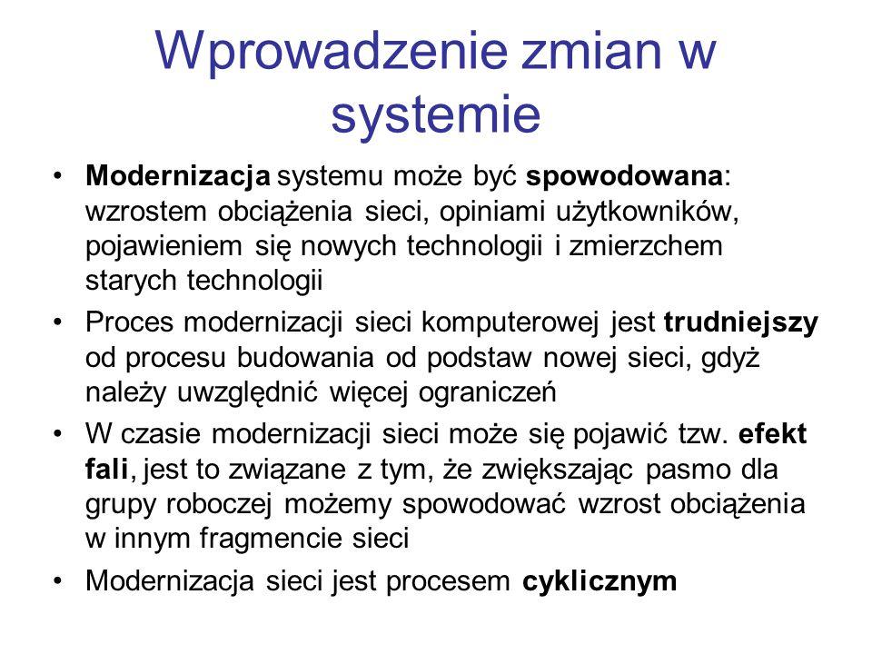 Wprowadzenie zmian w systemie