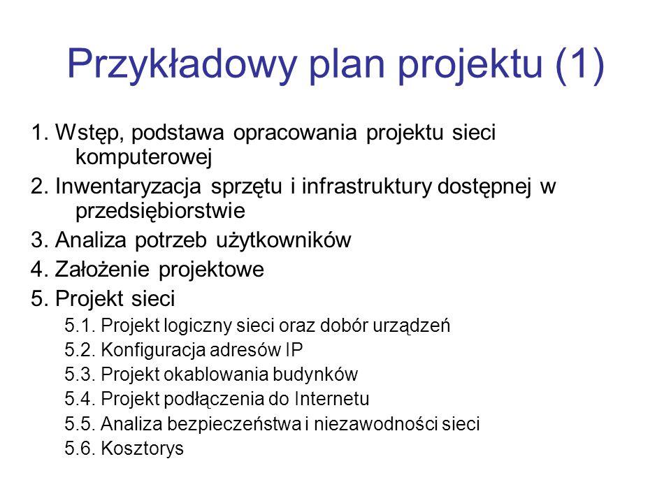 Przykładowy plan projektu (1)