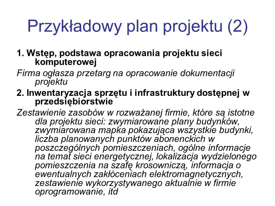 Przykładowy plan projektu (2)