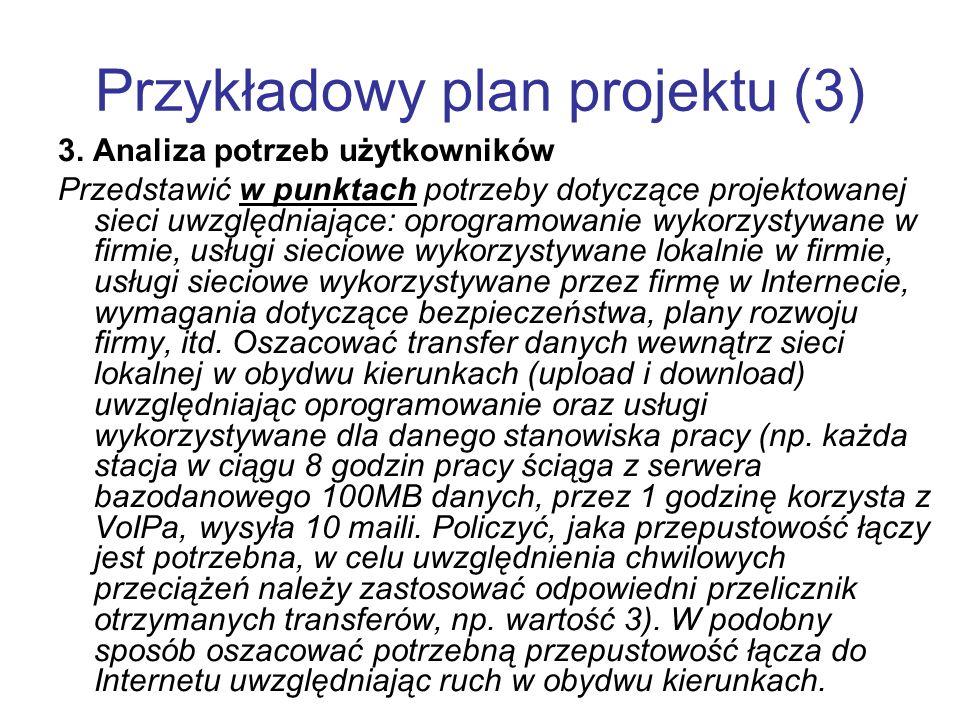 Przykładowy plan projektu (3)