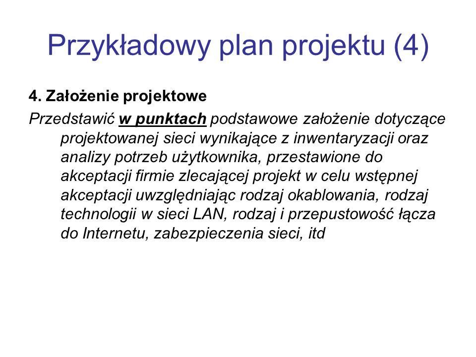Przykładowy plan projektu (4)