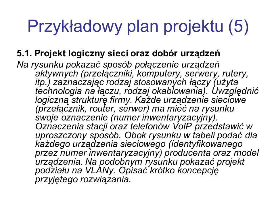 Przykładowy plan projektu (5)