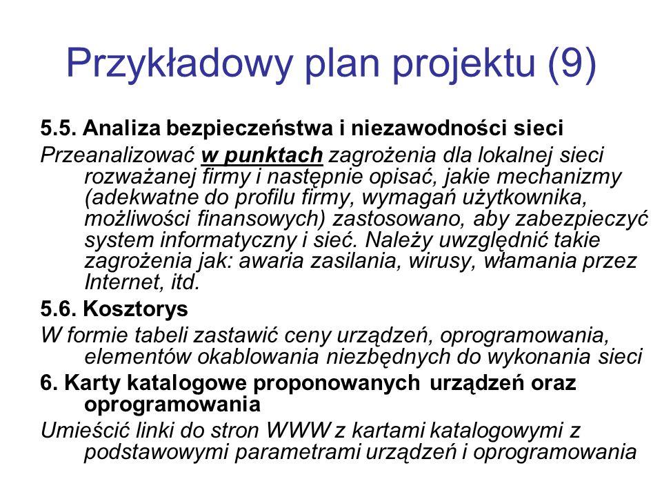 Przykładowy plan projektu (9)