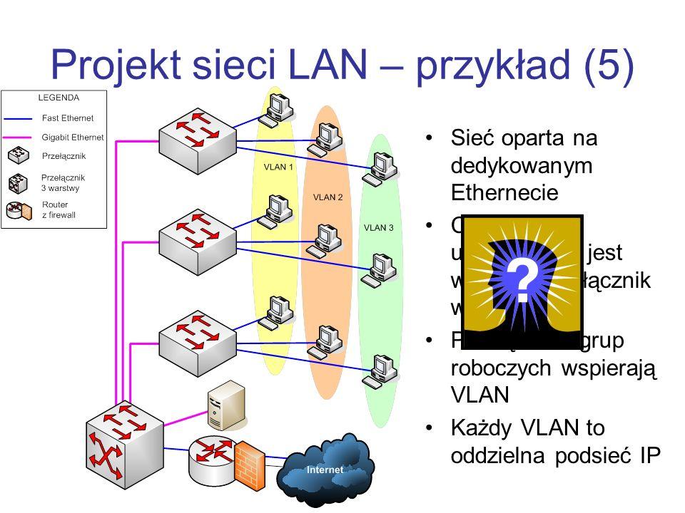 Projekt sieci LAN – przykład (5)