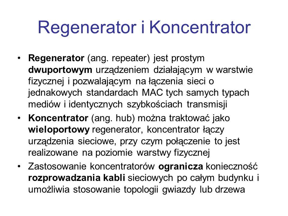 Regenerator i Koncentrator